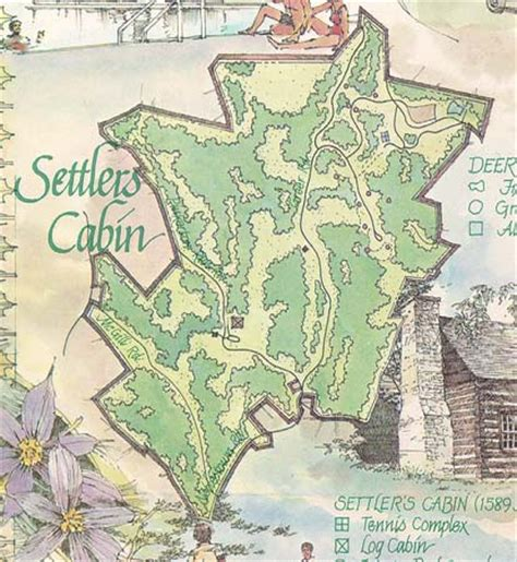 Cabin Park Map by Pennsylvania Department Local History Allegheny County Parks