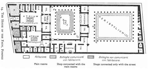 Pompeii House Plan Pompeii House Of The Faun Floor Plan House Plans