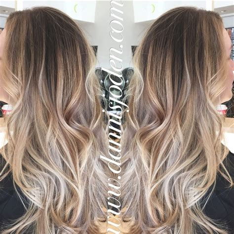 how long take for balayage neutral blonde balayage ombr 233 with a long layered haircut