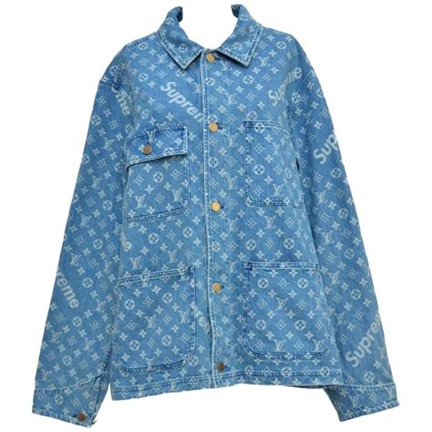 supreme jacket for sale louis vuitton x supreme denim barn jacket monogram size 52