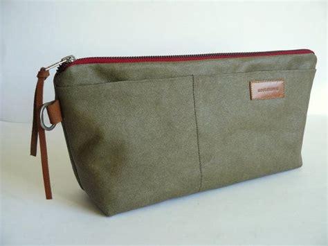 Handmade Toiletry Bag - handmade vintage olive green khaki resined waxed canvas
