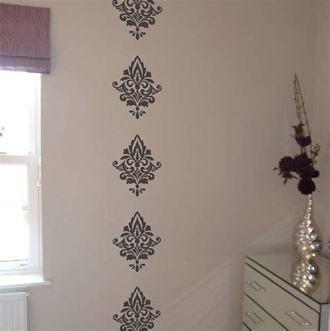 wall sticker patterns damask wall stickers by nutmeg notonthehighstreet