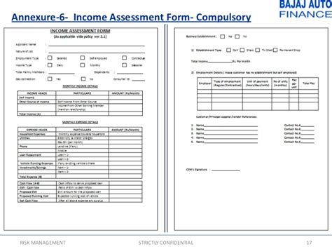 Credit Assessment Template credit policy version 2 1 nov10