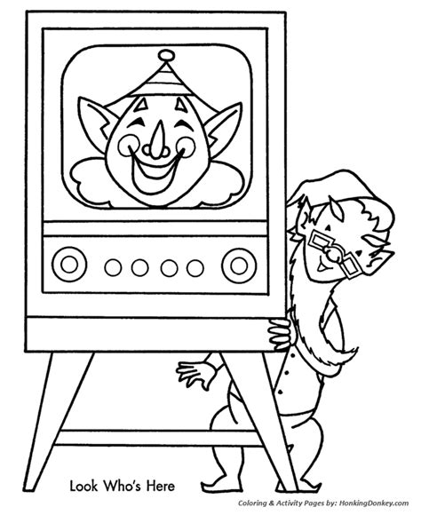 Christmas Shopping Coloring Pages Kids Christmas Tv Show Tv Show Coloring Pages