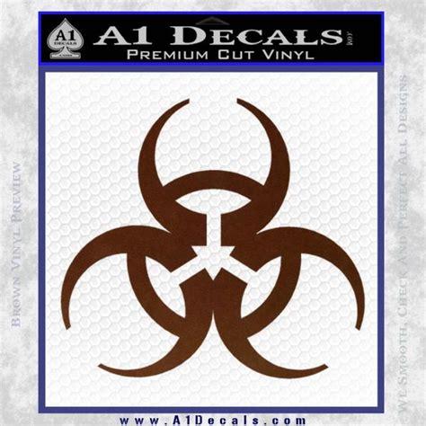 Biohazard 01 Sticker futuristic biohazard decal sticker d1 187 a1 decals