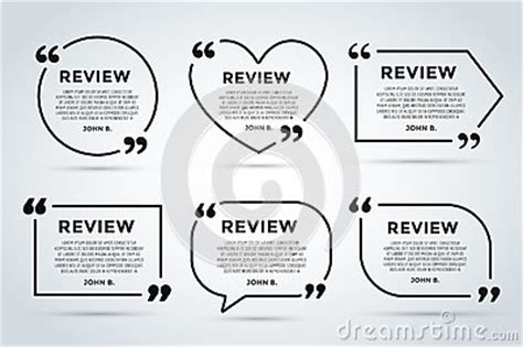 Website Review Quote Blank Template Stock Illustration Image 61507087 Review Website Template
