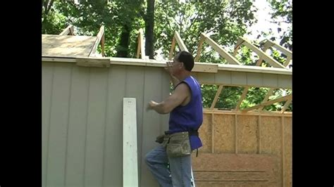 shed building tipsoverhangs  easy youtube