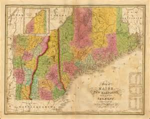 map of maine and nh map of maine new hshire and vermont compiled from the