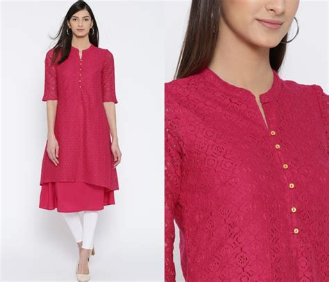 new neck pattern of kurti 11 simple neck designs for kurtis with laces keep me stylish