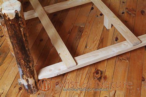 bed frame kit handmade deluxe log bed frame kit log bedroom furniture twist of nature