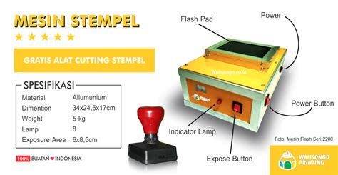 Mesin Stempel mesin stempel flash seri 1800 marketplace percetakan