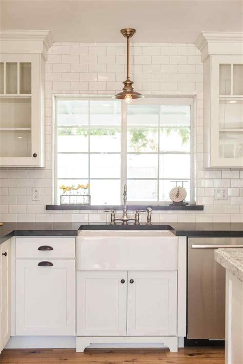 kitchen sink with backsplash tile around window in kitchen kitchen kitchen sink window kitchen backsplash inspiration