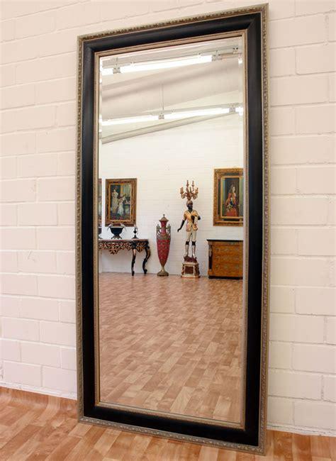 spiegel fensterläden wandspiegel silber schwarz ca 190x90cm ankleide spiegel