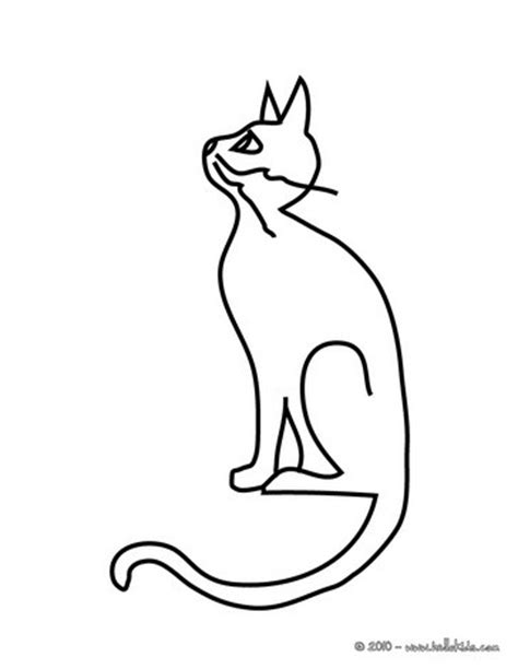 Cute Black Kitten Coloring Pages Hellokids Com Black Cat Coloring Pages