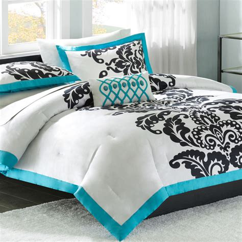 bedding accessories mizone florentine twin comforter set teal free shipping