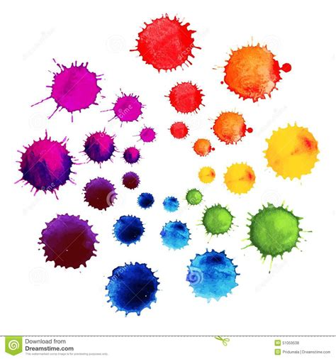 vector pattern with colorful blobs abstract flower made of watercolor blobs colorful