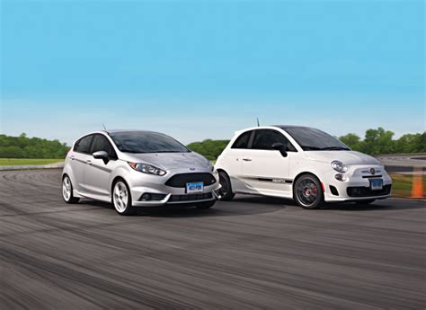 fiat abarth vs st ford vs fiat 500 abarth road test review