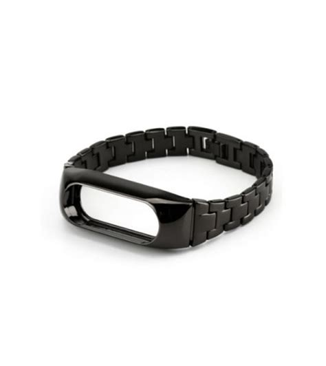 Xiaomi Mi Band Bracelet Black xiaomi stainless steel bracelet black for mi band 2