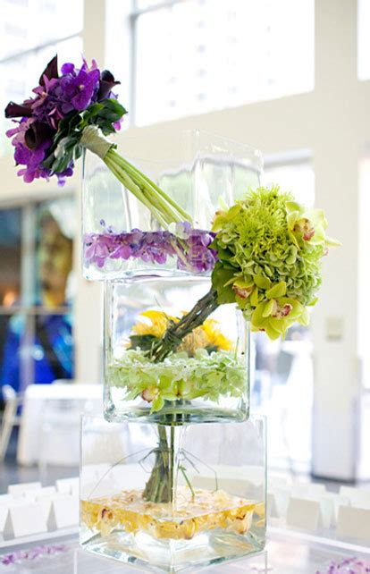 Art Museum Worthy Floral Wedding Centerpieces Purple And Yellow Wedding Centerpieces