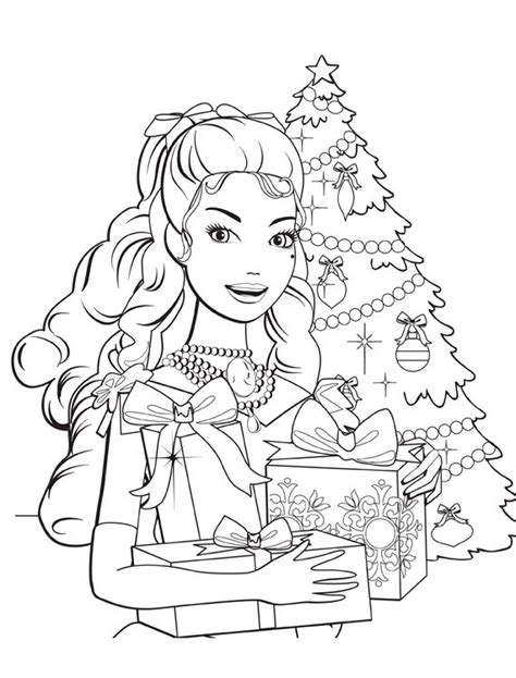 coloring pages barbie christmas barbie christmas coloring pages wallpapers9
