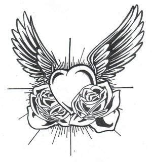 coloring pictures of hearts with wings hearts with wings coloring pages clipart best