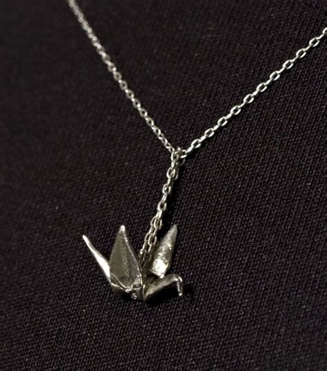 Silver Origami Crane Necklace - 17 best images about pretty jewelry on