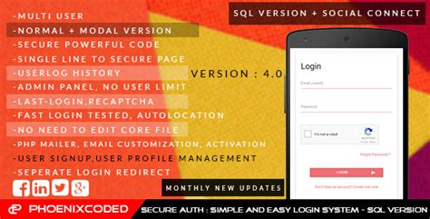codeigniter simple login secure secure auth simple and easy login sys sqlversion by