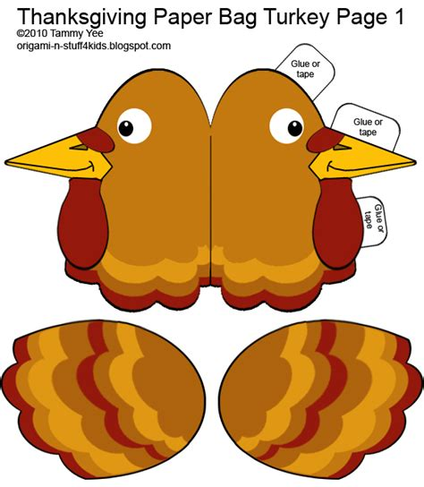paper bag turkey pattern origami n stuff 4 kids thanksgiving quot giving thanks