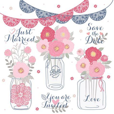 matrimonio clipart peonies wedding jar clipart flower flower clipart
