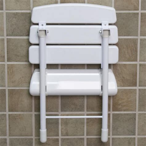 wall mounted foldable shower seat wall mount folding shower seat with legs white bathroom