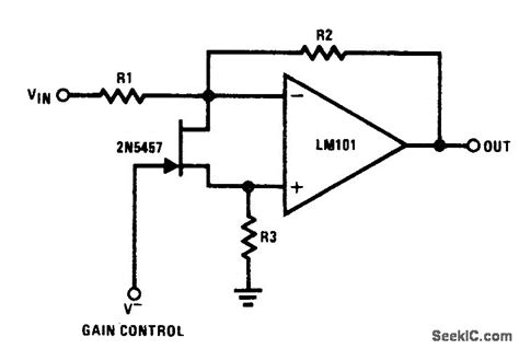 fet as voltage controlled resistor voltage controlled gain control circuit circuit diagram seekic