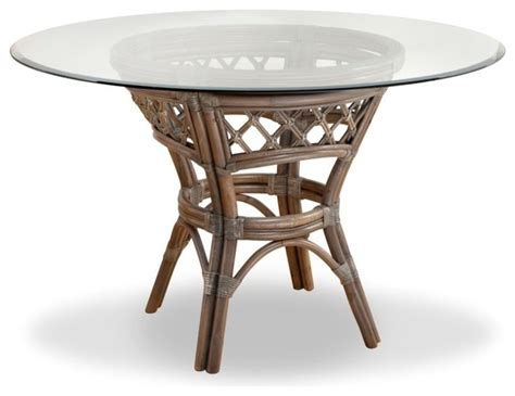 nadine dining table with 42 quot glass top tropical