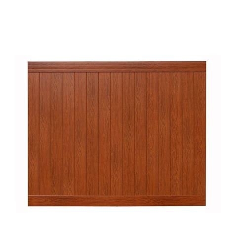 veranda pro series 6 ft h x 8 ft w rosewood vinyl