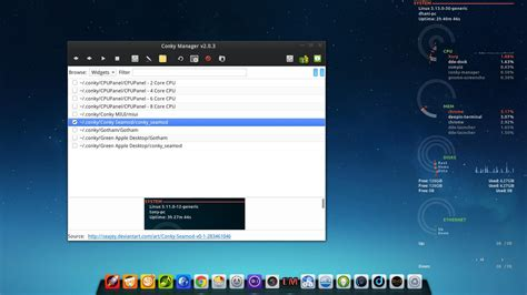 conky manager themes kali linux install conky manager 2 0 3 on deepin 2014 full version