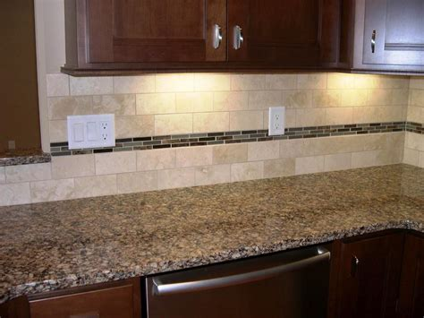 travertine subway tile backsplash home design mosaic