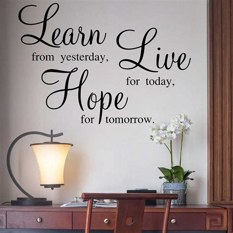 Living Room Quotes For Wall - learn live quotes wall stickers family quotes sticker