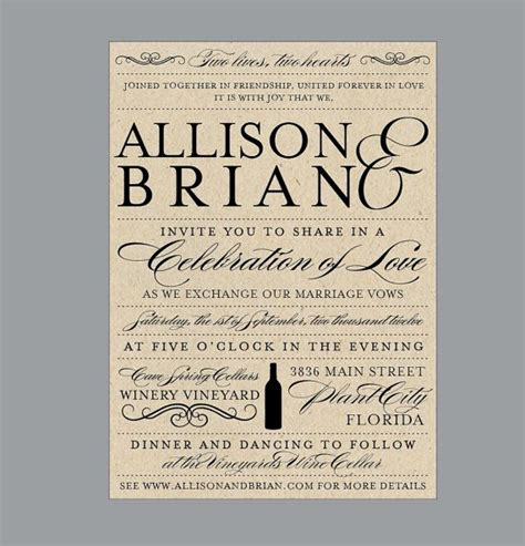 wine label wedding invitations vintage antique edwardian vineyard wine bottle rustic wedding invitations fonts