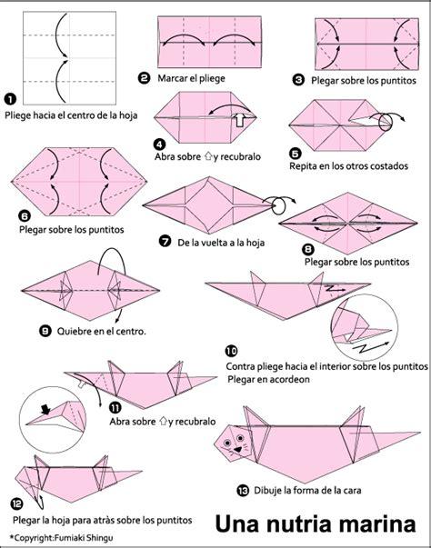 Otter Origami - origami otter tutorial origami handmade