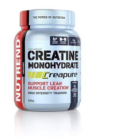 creatine use creatine monohydrate creapure nutrend supplements