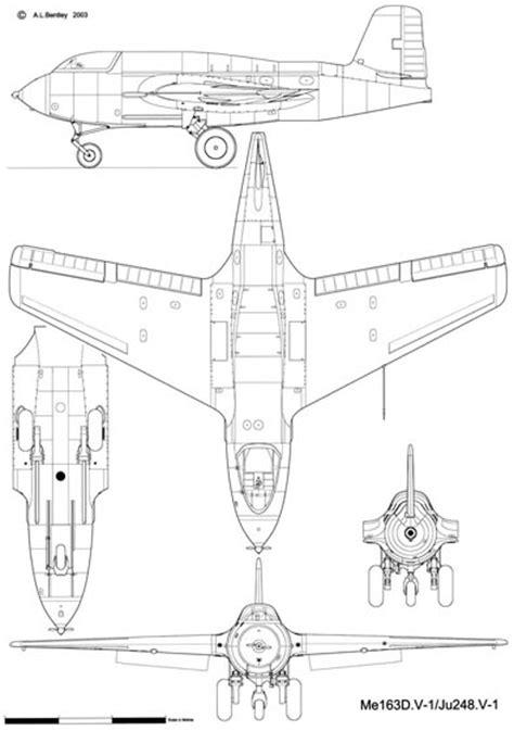 A. L. BENTLEY DRAWINGS | Messerschmitt Me163-A