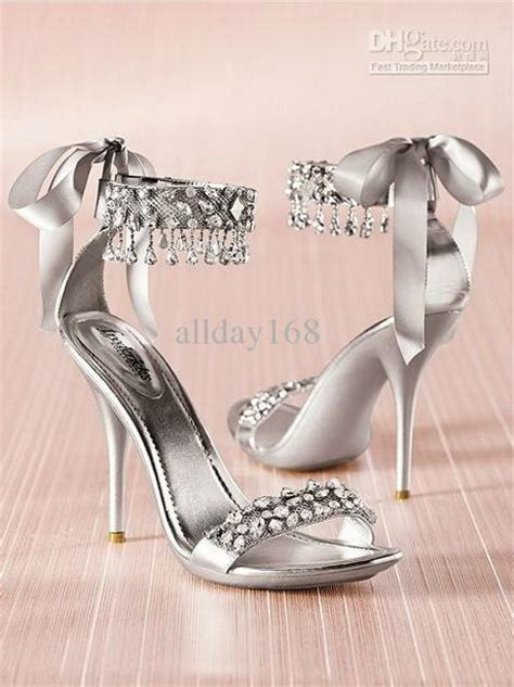 silver high heels for wedding silver rhinestone heels