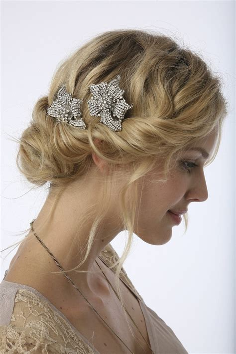Retro Vintage Wedding Hairstyles by Vintage Lace Weddings Vintage Wedding Hair Styles