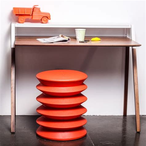 Ergoergo Stool by Ergo Orange Stool Allows The Sitter To Rock Gently In