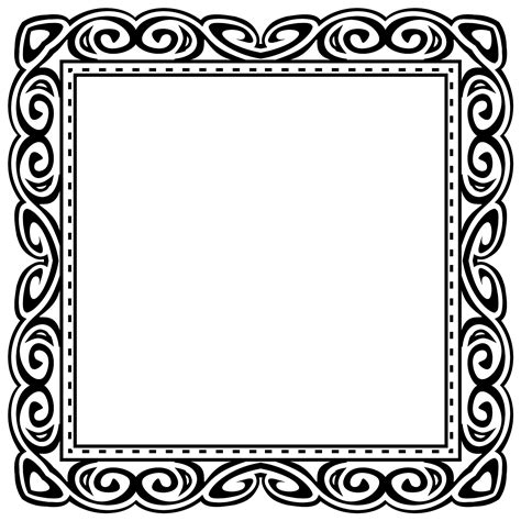 frame design black picture frame clipart black and white galleryimage co