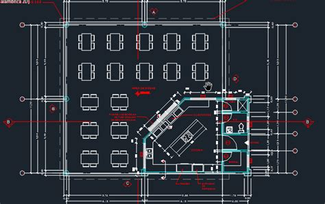 Construction Plan Symbols Cafeteria With Floor Plans 2d Dwg Design Plan For Autocad