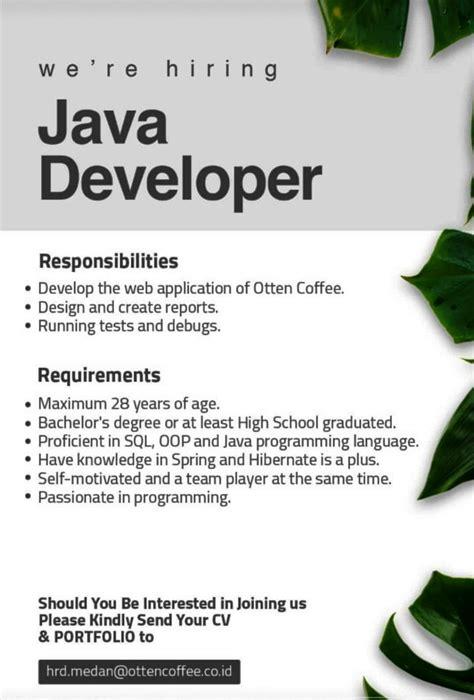 lowongan kerja tamatan   pt otten coffee indonesia medan