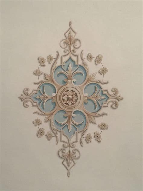 centro soffitto  novo baroque ornament painted