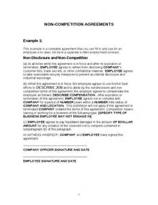 no competition clause employee noncompetition agreements template hashdoc