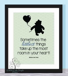 disney winnie the pooh quote typographic print it s the things baby family