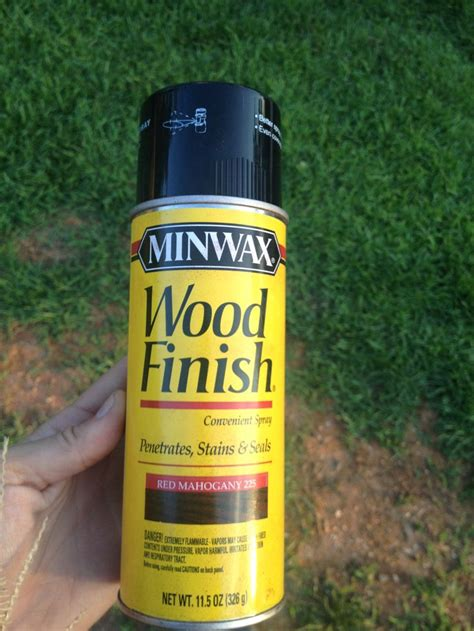 spray painting varnished wood spray paint stained wood krylon exterior spray on wood